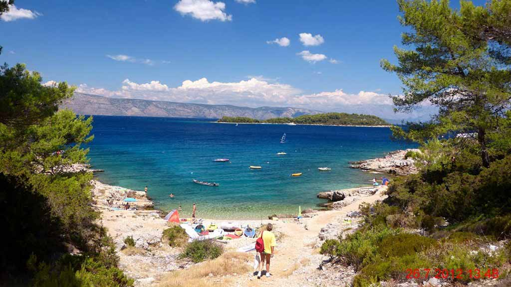Nudist Camp Beach Vrboska, The Island of Hvar, Croatia