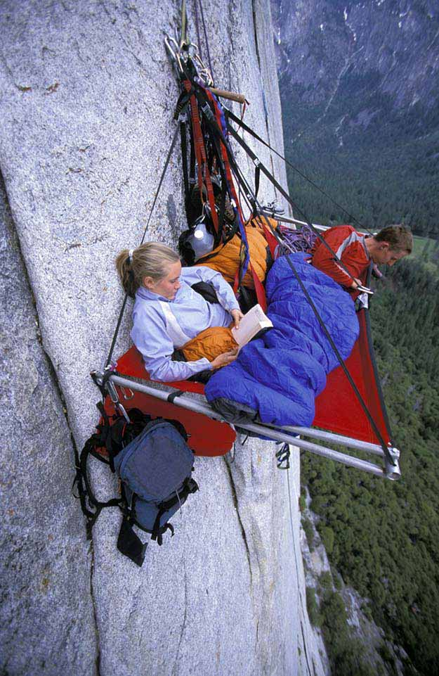 Portaledge camping at Yosemite