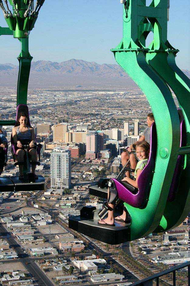 A ride at the Stratosphere Tower in Las Vegas