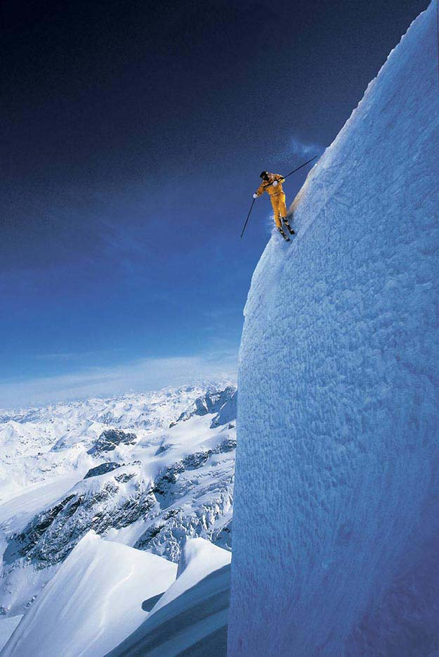 Extreme skiing at Grand Targhee, Wyoming