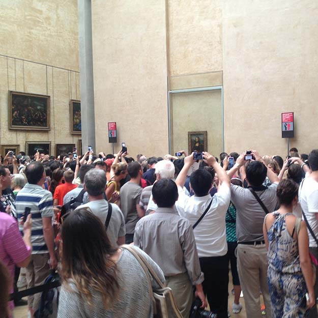 Finally got to see The Mona Lisa up close…