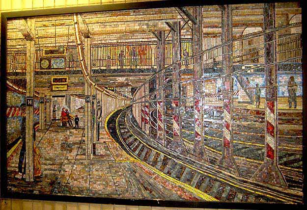Subway station with incredible art