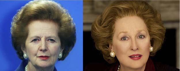 Margaret Thatcher (Meryl Streep in The Iron Lady)