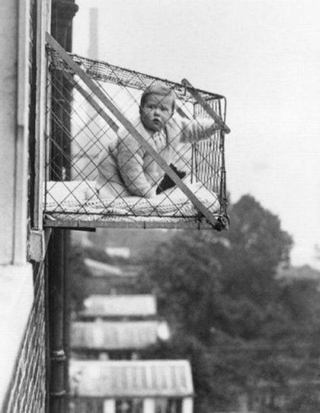 The baby cage, ca. 1937