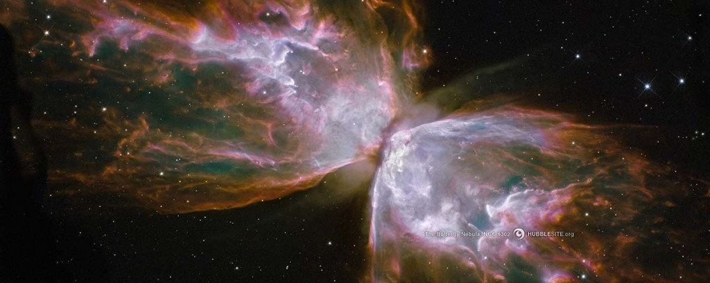The Butterfly Nebula with its 3 light year wingspan