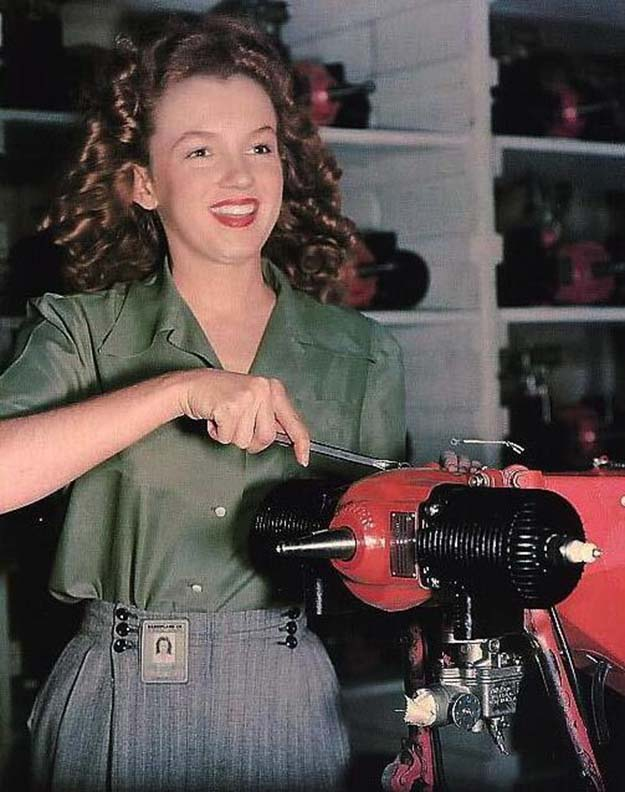 This worker in a Van Nuys CA factory in 1944 soon started calling herself Marilyn Monroe