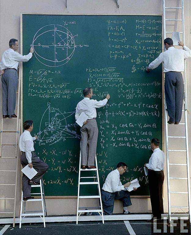NASA before Powerpoint -1960′s.