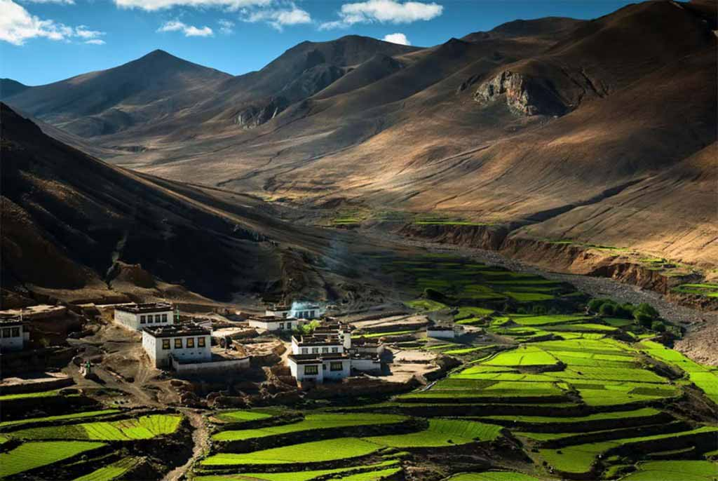 Village located in Himalayas, Tibet