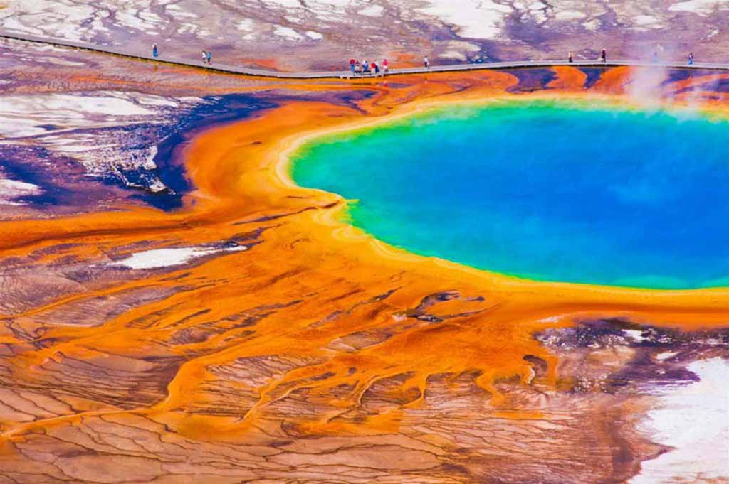 Grand Prismatic Spring, Yellowstone National Park, U.S.