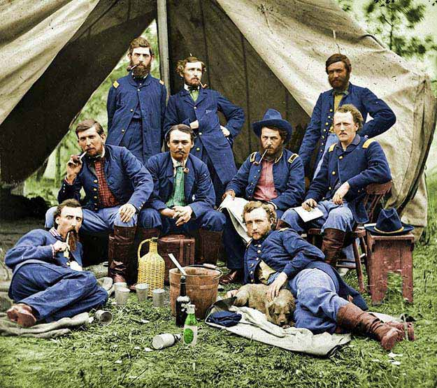 Lt. Custer and Union Troops (1862)
