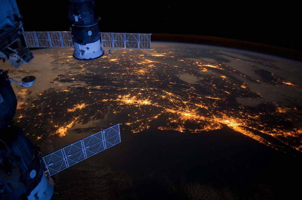 Earth as seen from the ISS: Atlantic Coast at Night