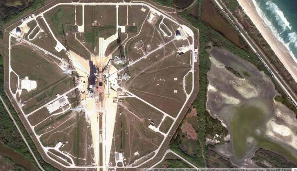 Previous Launching Pad for Space Shuttle Endeavour at NASA's Kennedy Space Center, Florida.