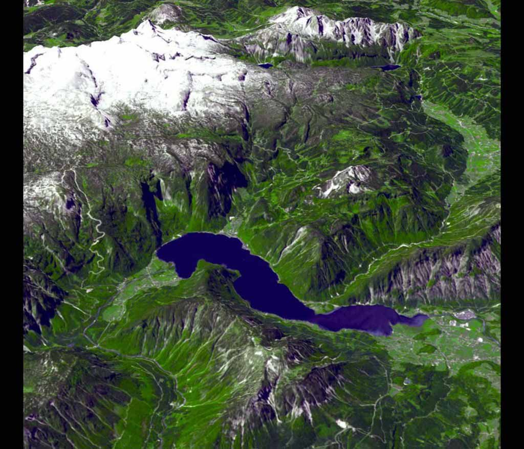The Alps form a great crescent-shaped ridge extending from the Mediterranean to Austria.