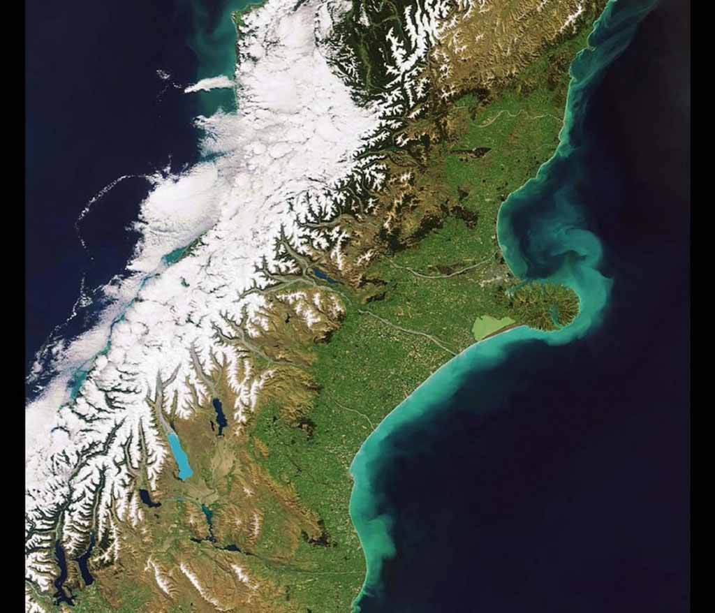 Banks Peninsula, New Zealand — a country offering snow-capped Alps and subtropics.