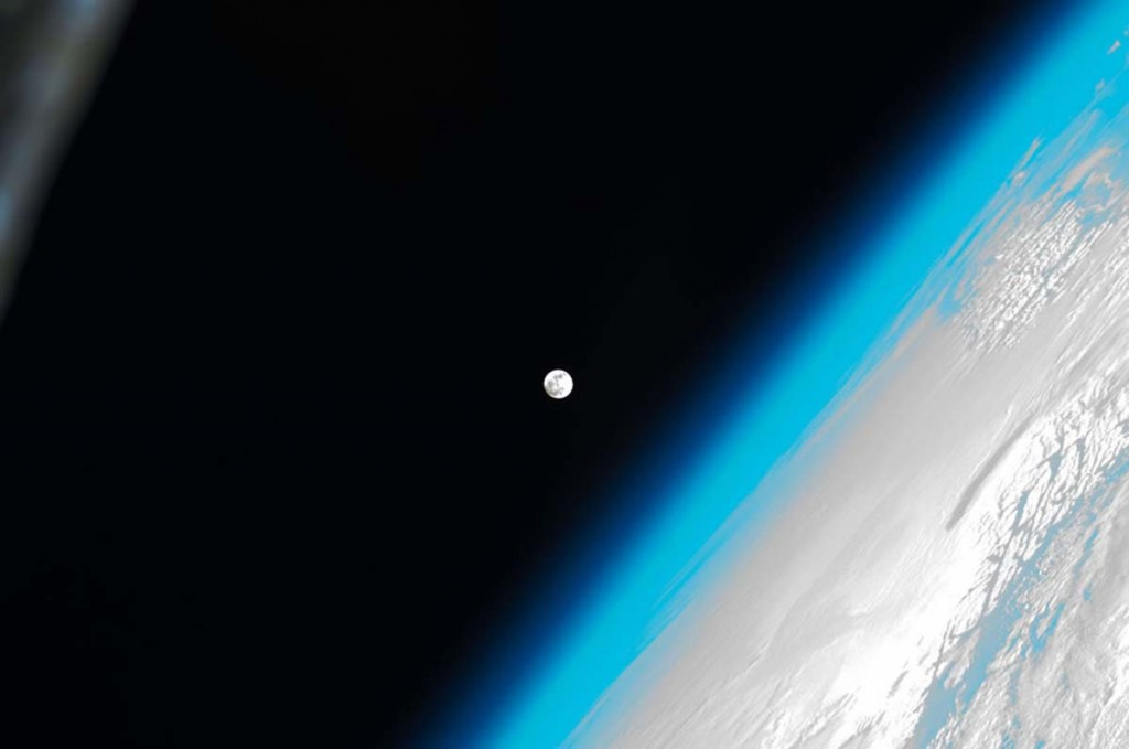 The Moon and Earth from the ISS with love