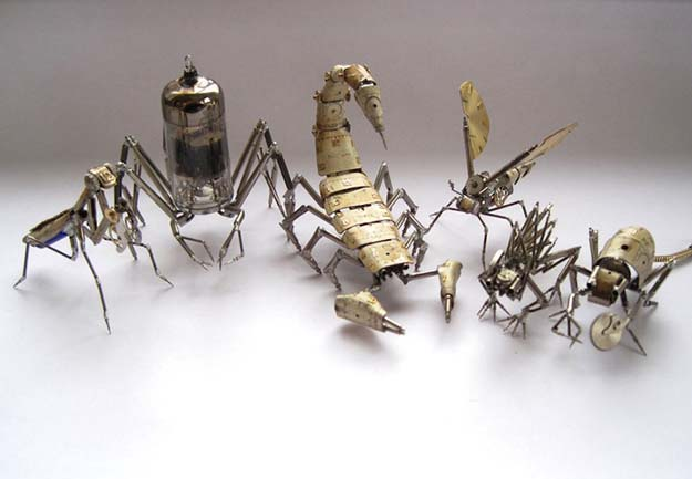 Tiny Mechanical Insects Made Of Watch Parts By Justin Gershenson-Gates