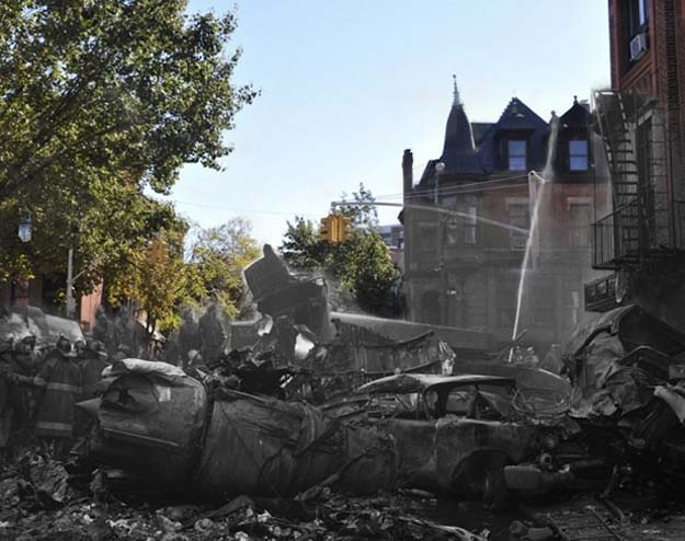 Park Slope plane crash in New York City