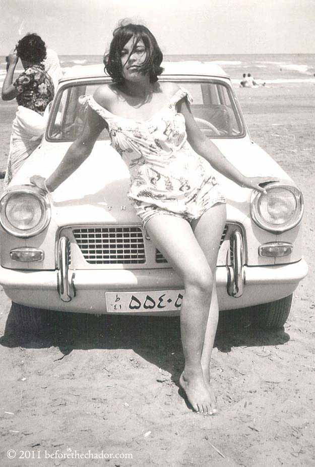 Iranian woman in the era before the Islamic revolution by Ayatollah Khomeini. Iran, 1960