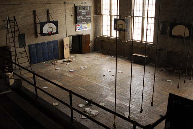 Long forgotten gymnasium in Cleveland, Ohio