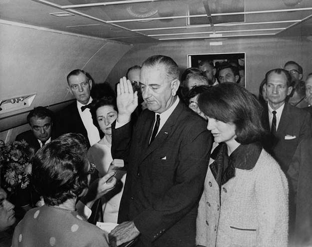 President Johnson Sworn In Aboard Air Force One, 1963