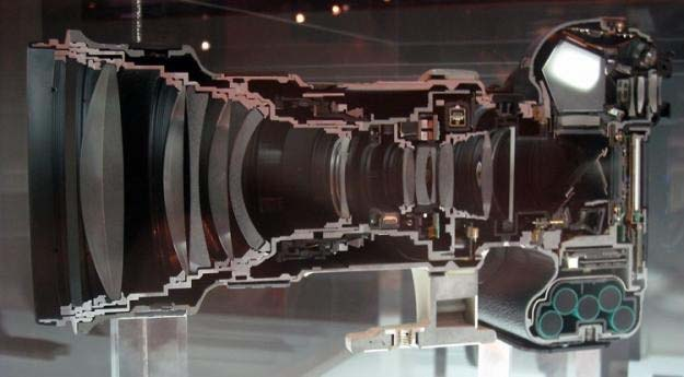 Canon 1Ds camera with 400mm lens