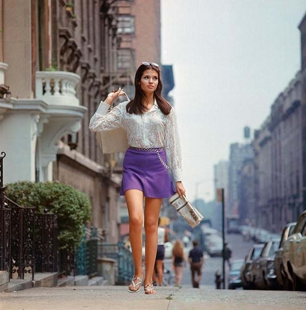 New York City, summer of 1969, start of the miniskirt era