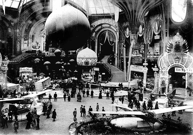 An exhibition of flying machines, Paris 1909