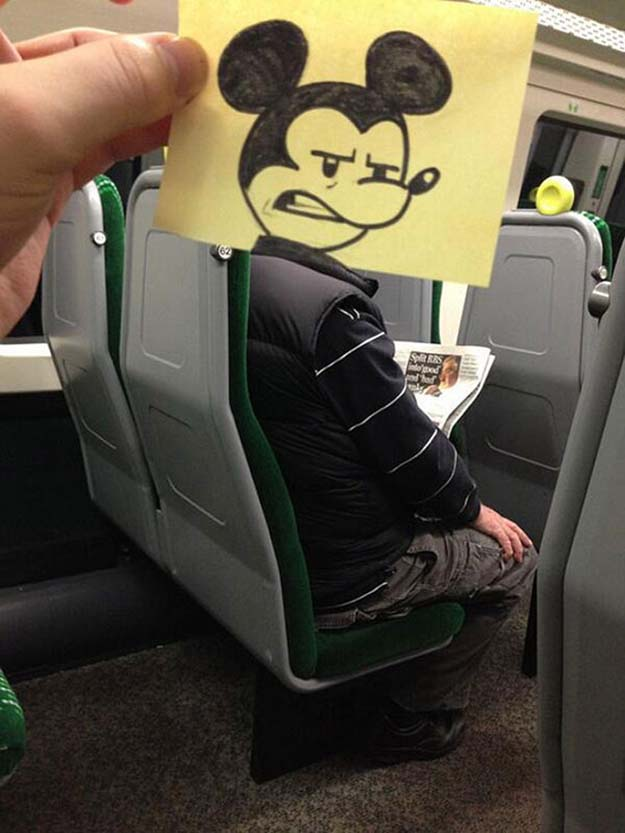 This Is How An Artists Passes Time On A Train