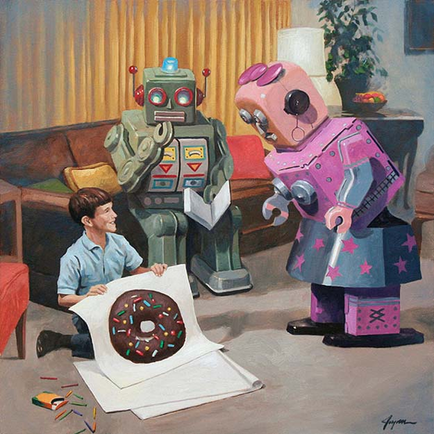 Robots + Donuts = The Art Of Eric Joyner