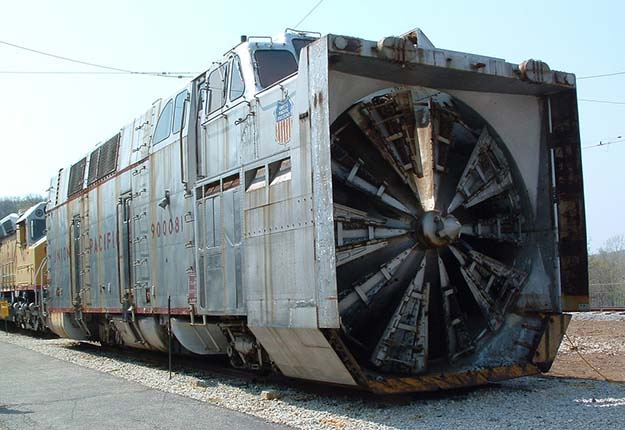 A rotary snowplow locomotive at the Museum of Transportation in St. Louis