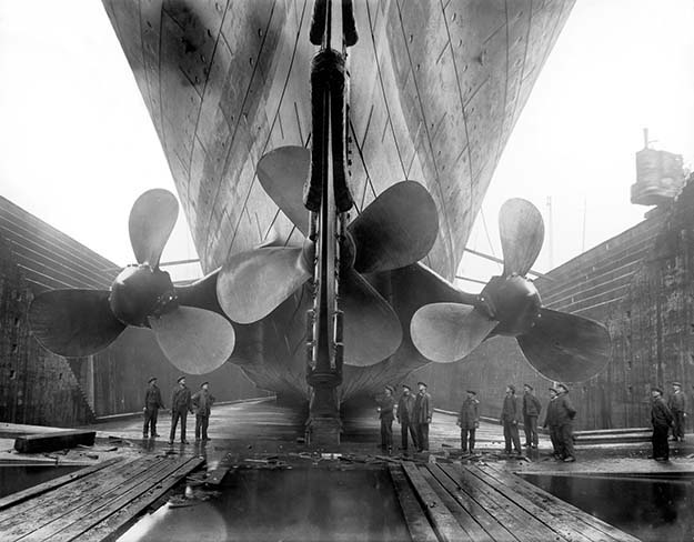 Propellers of The Titanic c. 1912