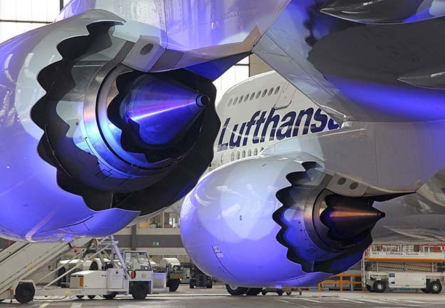 Lufthansa 747-800. GEnx Engines