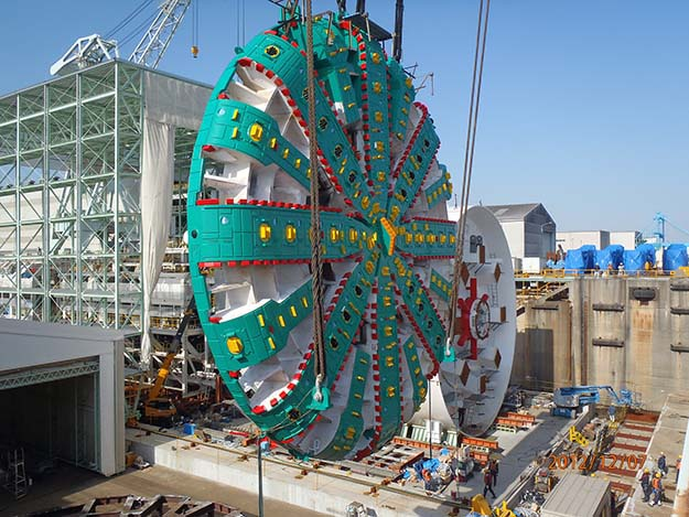 Cutterhead of the world's largest-diameter tunnel boring machine