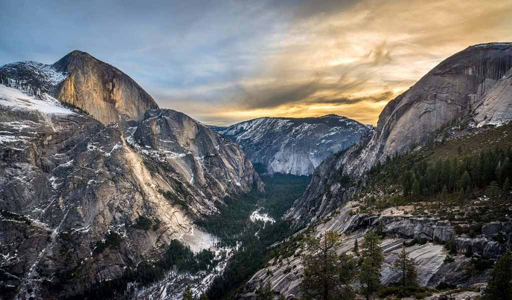 Rare View of Yosemite's Grandeur during Winter