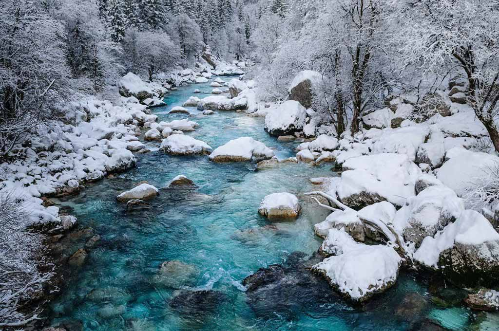Soca, the most beautiful river in Slovenia