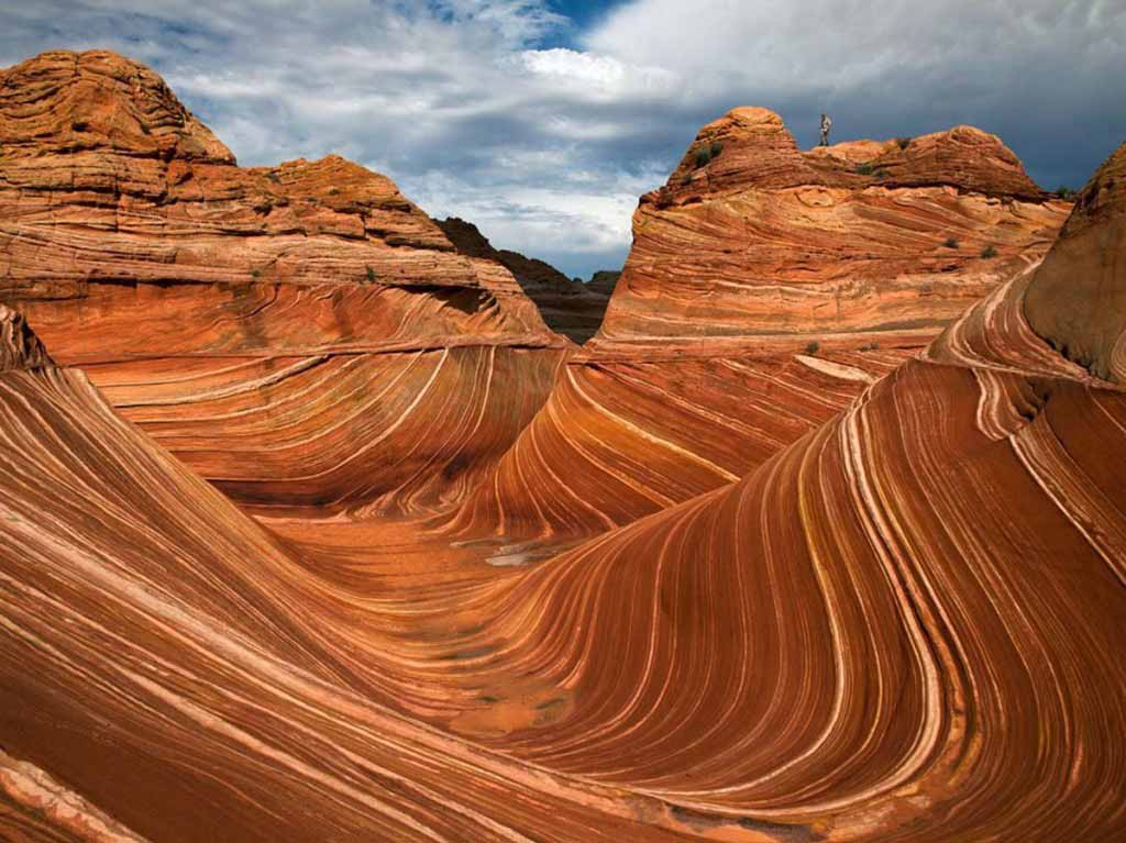 Petrified sand dunes at Vermilion Cliffs, Arizona