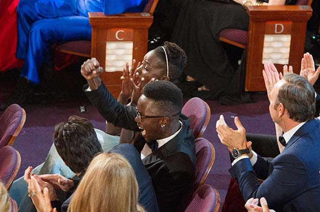 Some Cool Behind The Scene Shots Of Lupita Nyong'o Winning The Oscar And The Rest Of Her Night Afterwards