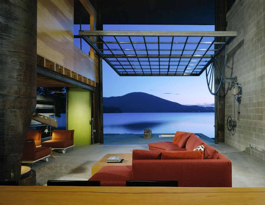 This room in Idaho has a wall that opens up completely!