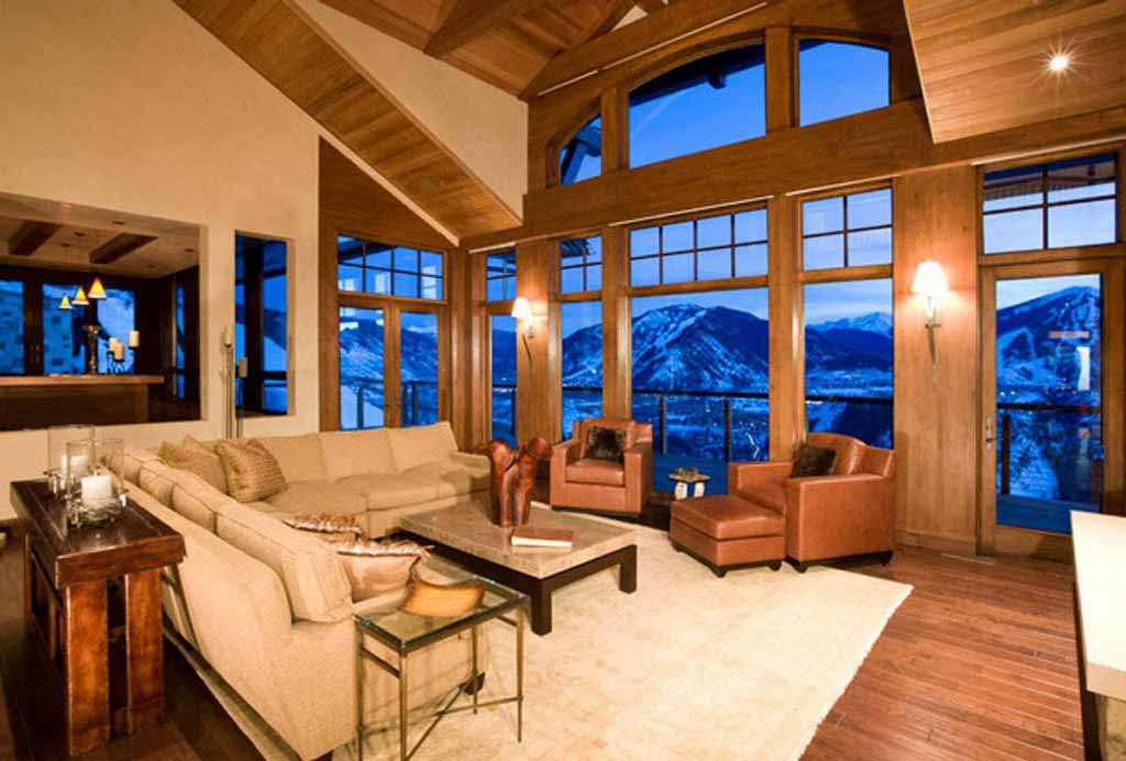 This room with a view has an awesome vantage point to plan your next ski adventure…