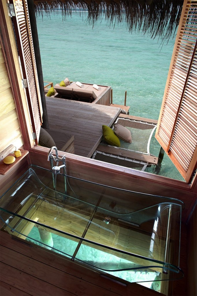 This room actually has two views for the price of one: the window and the bathtub!