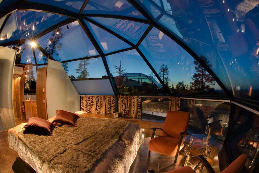 Can you imagine watching the Aurora Borealis from this room?