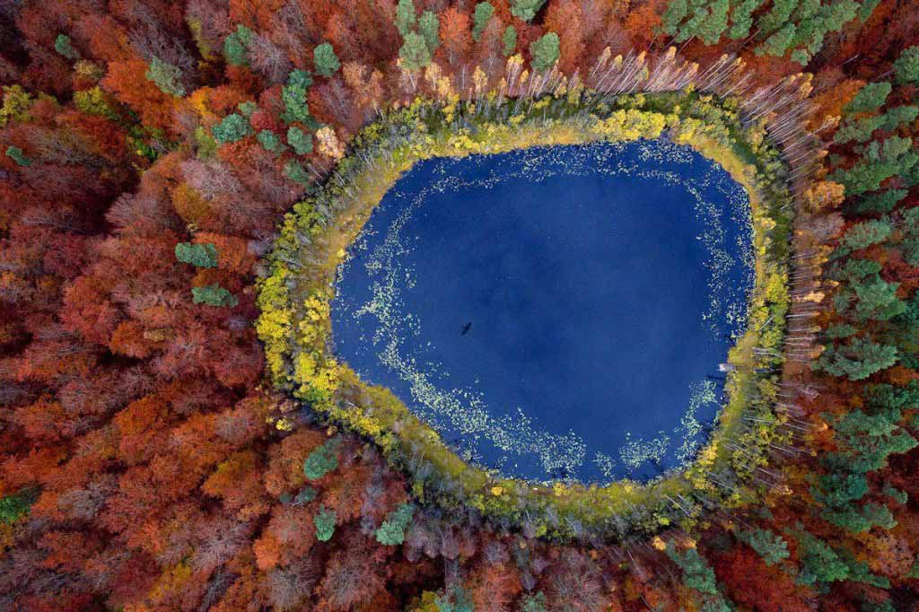 Lake in Pomerania, Poland