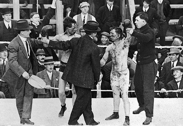 "A boxing match between Ray Campbell and Dick Hyland"", 3rd May 1913"
