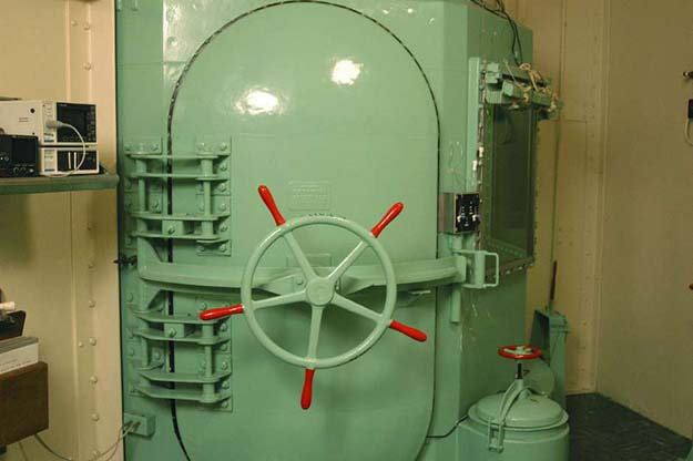A handout picture shows a gas chamber at San Quentin prison in California, November 23, 2005.