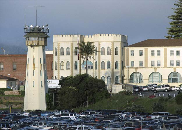 Citadel: This picture shows the exterior of San Quentin prison overlooking San Francisco Bay
