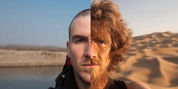 A year of walking across China, before and after