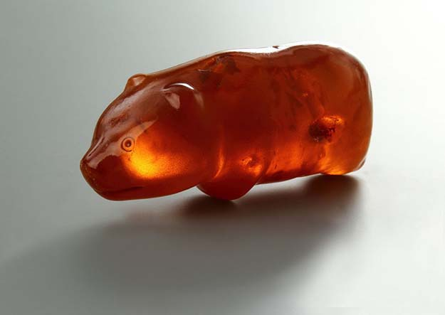 The amber bear amulet, 3500 years old