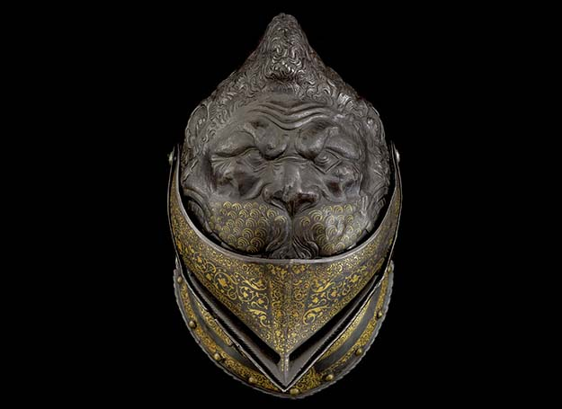 Top of the Lion Armour's helmet. 16th century, France