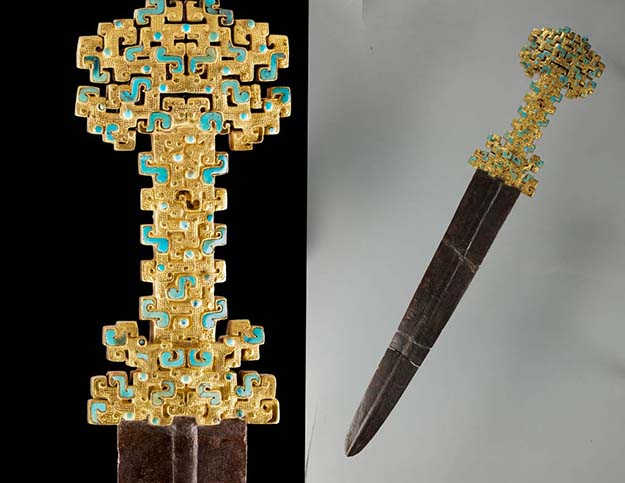 Chinese Qin Sword with Gold Openwork Handle 770 – 476 B.C.