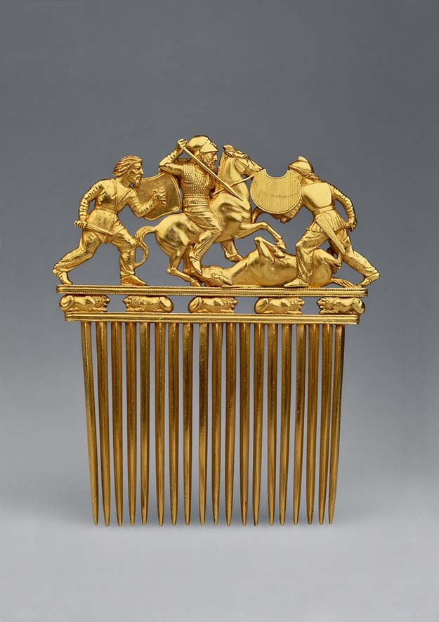 Scythian golden comb 5th century BC